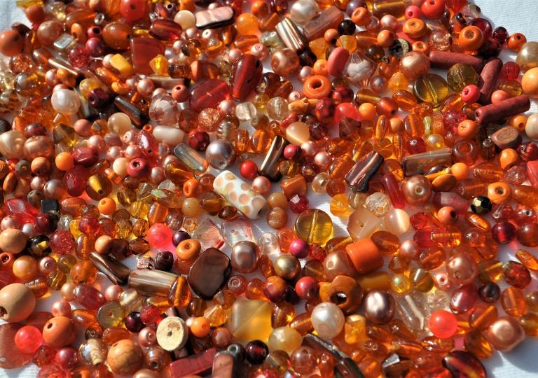 beads---orange