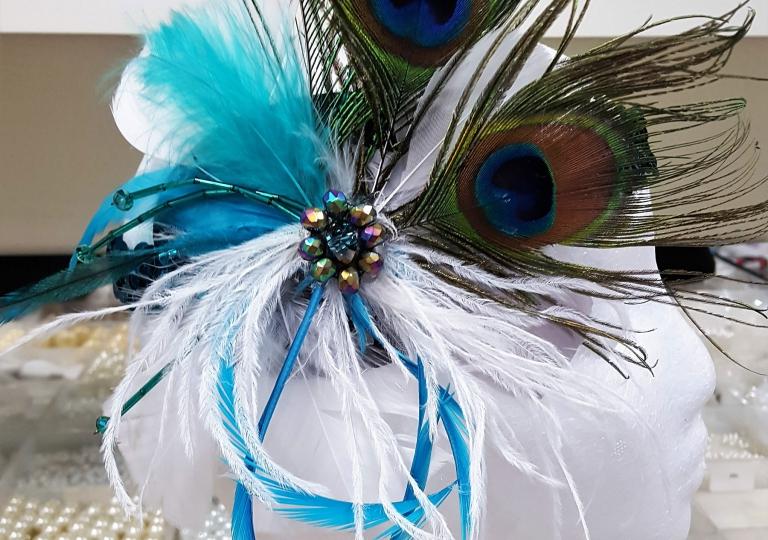 peacock-fascinator