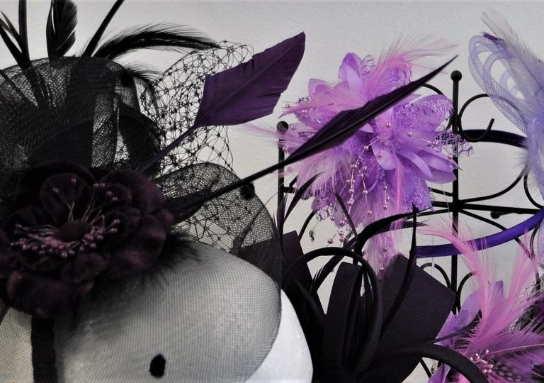 purple-fascinators